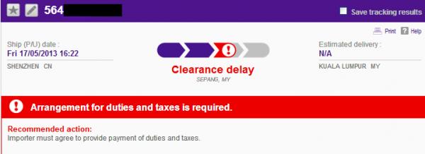 FloJack Shipment Clearance Delay